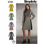 8786 Simplicity Pattern: Misses and Miss Petite Dresses